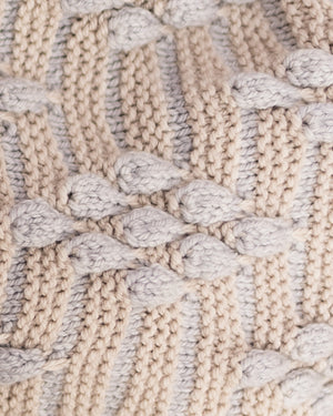 Bobble Diamond Shawl Knitting Kit