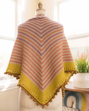 Gumdrop Shawl (Large )Knitting Kit