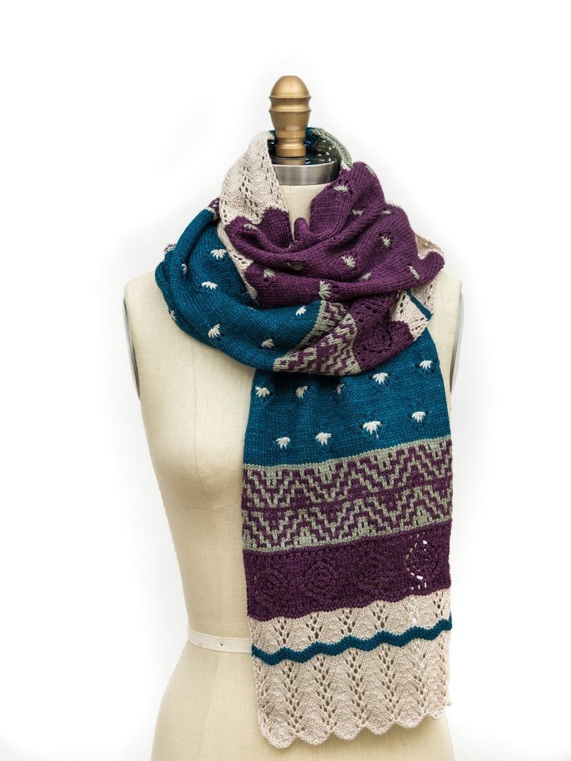 Frida Scarf PDF Knitting Pattern