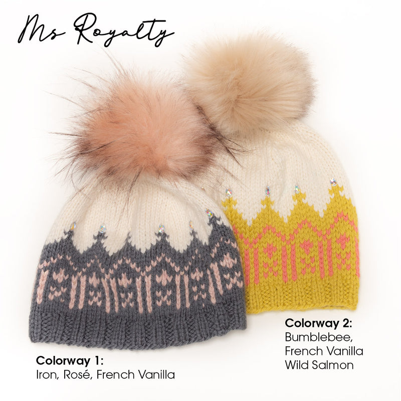 Ms Royalty Hat Knitting Kit