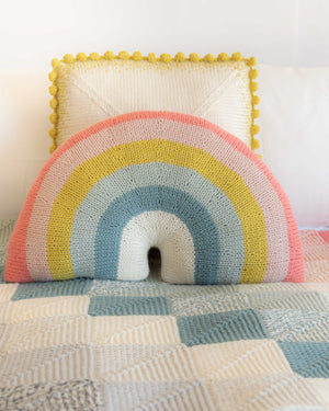 Over-the-Rainbow Pillow Knitting Kit