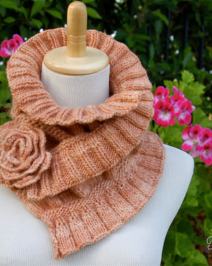 ruffled and ruched pam powers knits