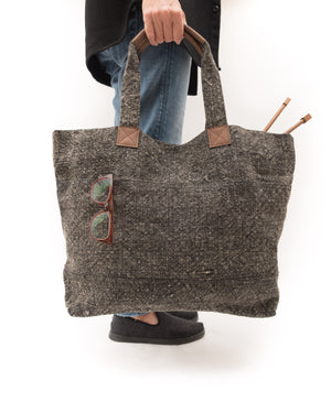 linen tote pam powers knits