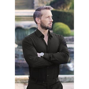 Black Super Stretch Shirt - The Stretch Suit