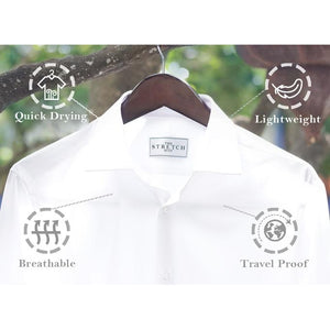 White Super Stretch Shirt - The Stretch Suit