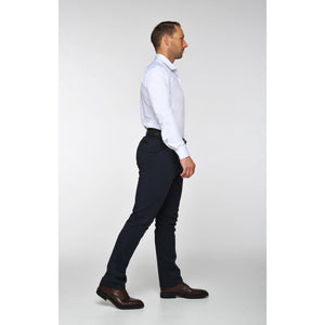Navy Travel Light Chino Pants - The Stretch Suit