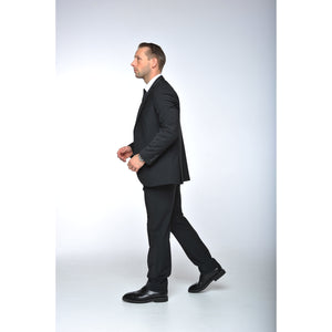 Black 3 Piece Stretch Suit - The Stretch Suit