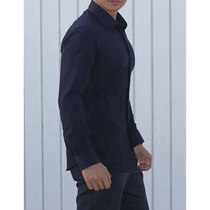 Navy Super Stretch Shirt - The Stretch Suit