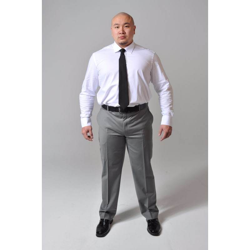 Big and Tall White Stretch Shirt - The Stretch Suit