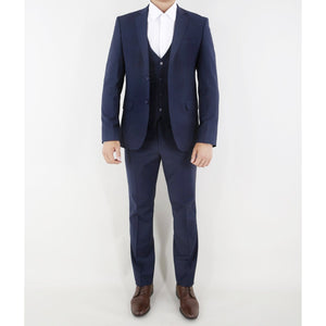 Navy 3 Piece Stretch Suit - The Stretch Suit