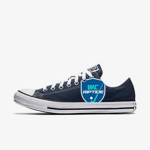 Custom Riptide Converse Sneakers in Navy Blue
