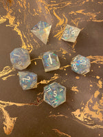 Custom Handcrafted 7-piece Polyhedral Dice Set