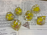 Lucky Ducks in a Row Dice Set- Polyhedral Dice, 8d6 Set, 10d10 Set
