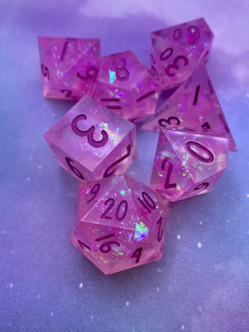 Fey Fire Handcrafted Dice Set