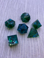 Hidden Depths Handcrafted Dice Set