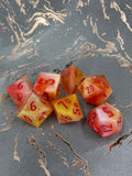 Candy Corn Sunset Handcrafted Dice Set