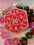 D20 Iron On Patch Tabletop Gaming Patch Gift for Gamers