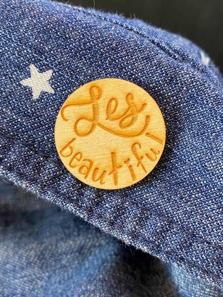 LGBTQ+ Wooden Pin- Les-Beautiful