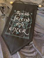 LOTR- Speak Friend and Enter Banner Wall Hanging Pennant