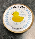Lucky Duck20 - D20 dice with tiny rubber ducky inside!
