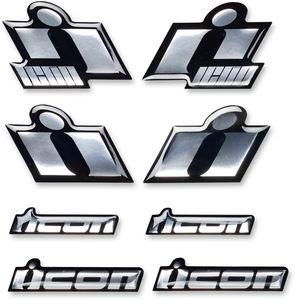 CHROME DECAL SET