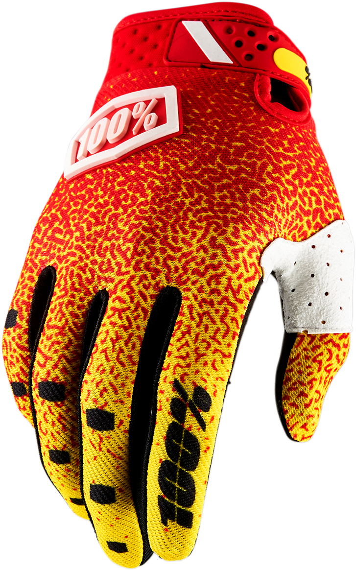 GLOVE RIDEFIT RED/YLW