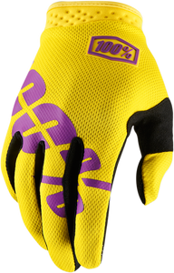 GLOVE ITRACK YELLOW
