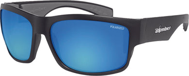 TIGER BOMB SUNGLASSES MATTE BLACK W/ICE BLUE POLARIZED