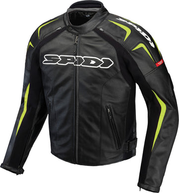 TRACK LEATHER JACKET BLACK/GREEN E58/US48