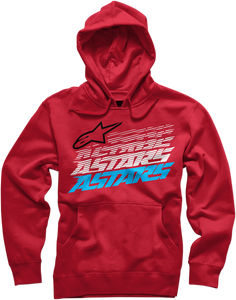 HOODY HASHED RED