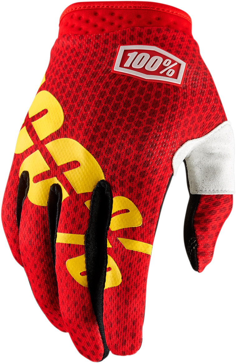 GLOVE ITRACK FIRE RED