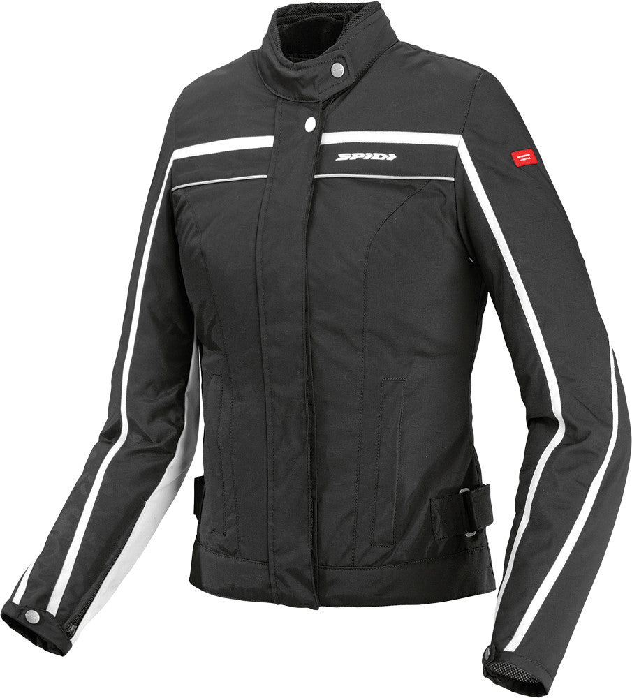 STREET TEX LADIES JACKET BLACK/WHITE S