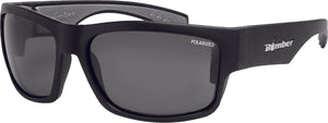 TIGER BOMB SUNGLASSES MATTE BLACK W/SMOKE POLARIZED