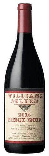 Williams Selyem Vista Verde Vineyard Pinot Noir 2014 - Region Wine Club LLC