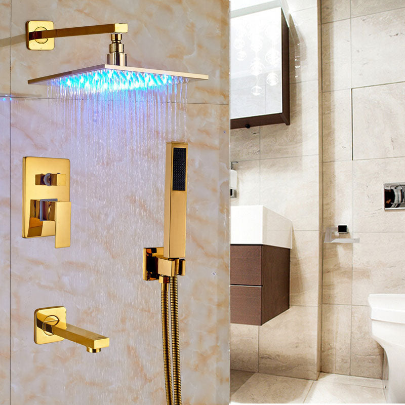 LED Shower Set with 12