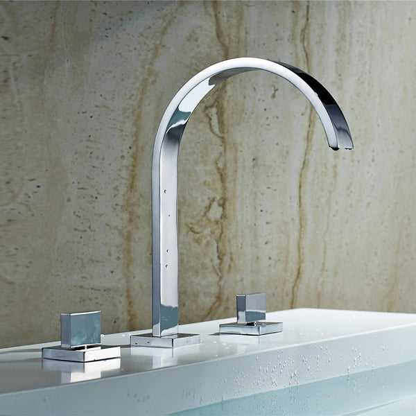 Modern Widespread Bath Faucet in Chrome - Edessa Kitchen & Bath