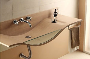 Classic Wall Mounted Widespread Bath Faucet in Chrome w/Cross Knobs - Edessa Kitchen & Bath