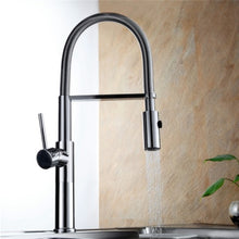 Pull Out Spring Kitchen Faucet in Chrome or Brushed Nickel - Edessa Kitchen & Bath