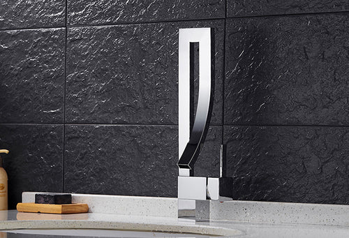 Premium Bath Faucet in Chrome, Black or Brushed Nickel - Edessa Kitchen & Bath