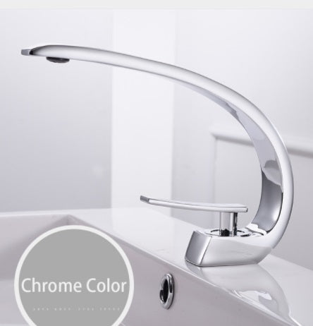 Modern Arc Bath Faucet in Chrome, Black or Brushed Nickel - Edessa Kitchen & Bath