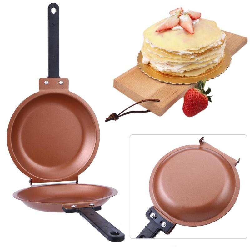 Non-stick Skillet Flip Pot Pancake Cake Maker Stainless Steel