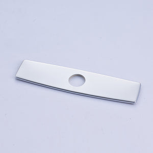 "Rectangular 10"" Escutcheon Deck Plate for Single Hole Faucet in 3 colors - Edessa Kitchen & Bath"
