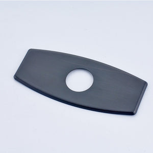 "Square Edge 6"" Escutcheon Deck Plate for Single Hole Faucet in 3 colors - Edessa Kitchen & Bath"