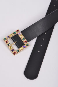Multi Color Stone Square Belt