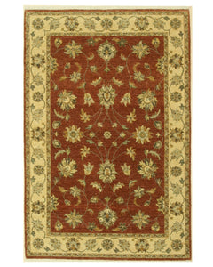 EORC Hand-knotted Wool Brown Traditional Oriental Agra Rug