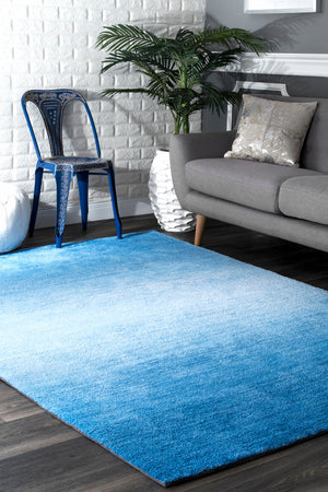 nuLOOM Hand Tufted Ombre Bernetta Blue Area Rug