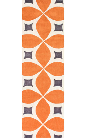 nuLOOM Deep Orange Hand Tufted Gabriela BHBC55A Area Rug