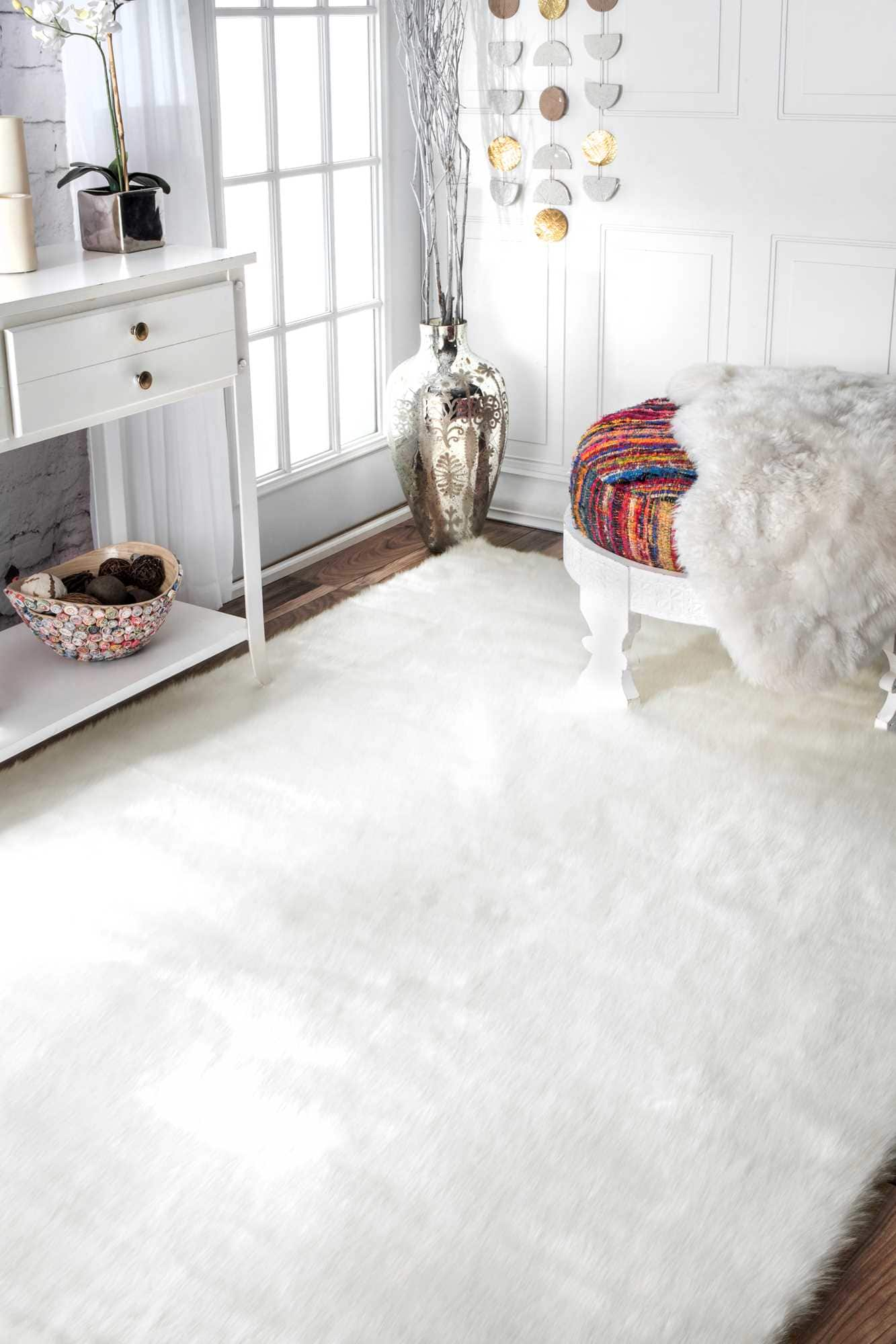 nuLOOM Cloud Shag Ivory Area Rug