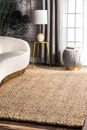nuLOOM Floral Damask Rosemary Natural Area Rug