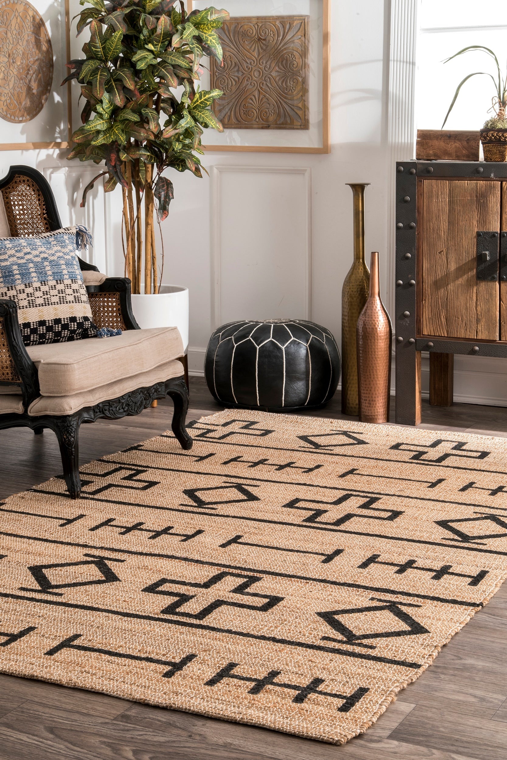 nuLOOM Hand Loomed Barry Natural Area Rug